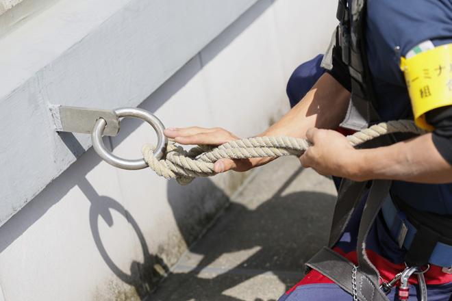 ロープワーク(ブランコ作業)
